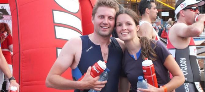 Sabrina en Maarten in de Triathlon van Brugge